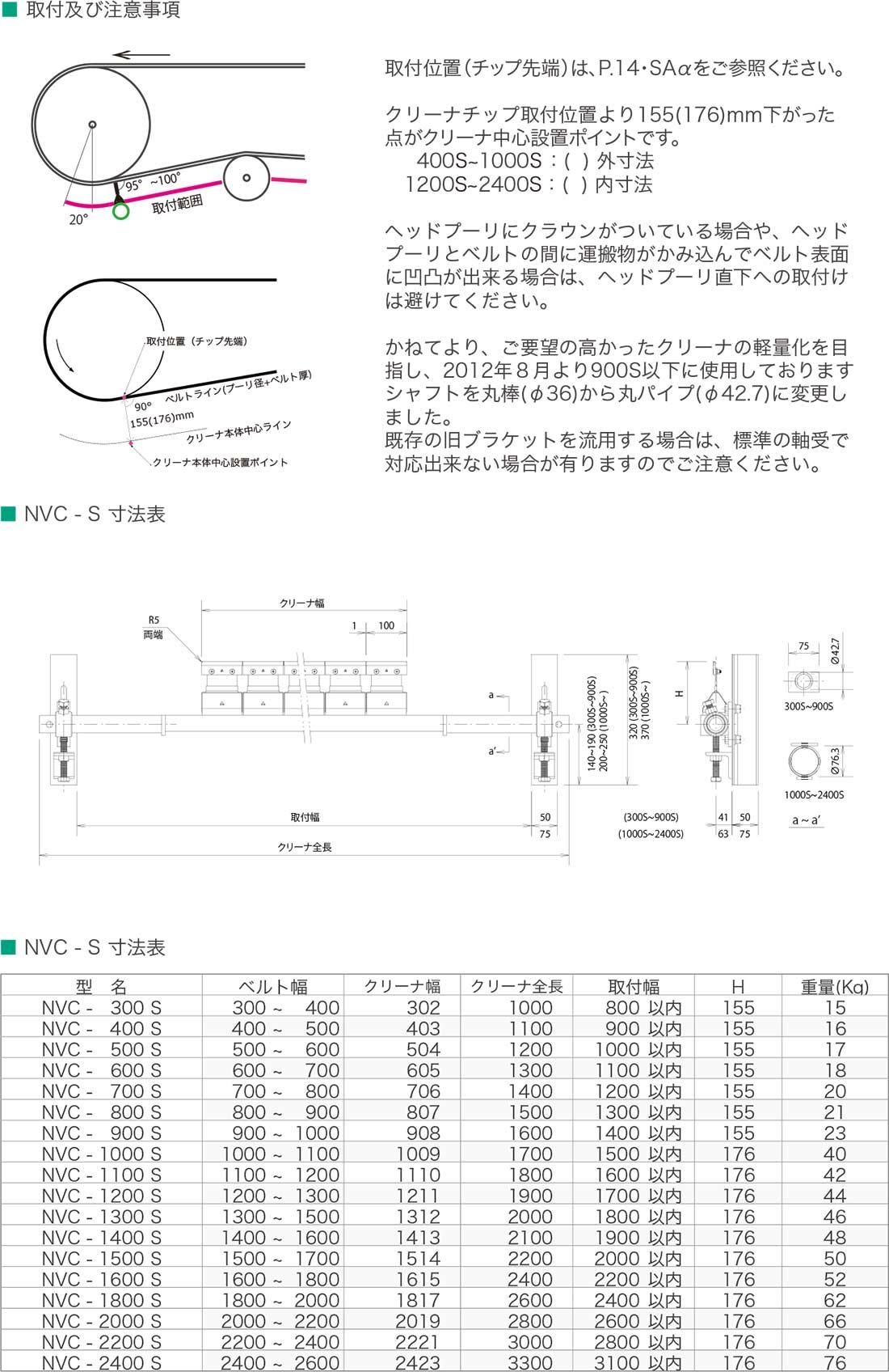 中間クリーナ(NVC-S)
